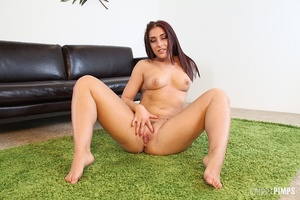 While masturbating, this sexy brunette v - XXX Dessert - Picture 10