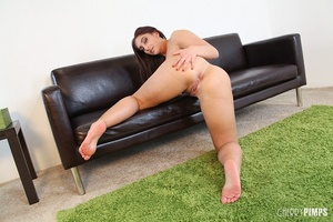 While masturbating, this sexy brunette v - XXX Dessert - Picture 13