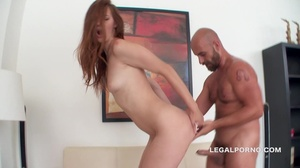 Brown-haired girl with tiny black panties enjoys brutal anal - XXXonXXX - Pic 15