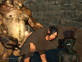 Busty elven slave fucks orcs, goblins and other - Picture 3