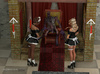 Insectoid creature teams up with a maid to bang a blonde