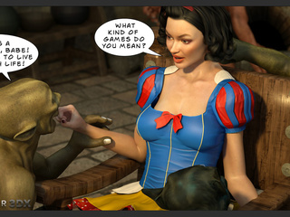 Snow White gets a pearl necklace form a hung orc - Picture 3