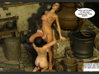 Snow White gets a pearl necklace form a hung orc - Picture 4