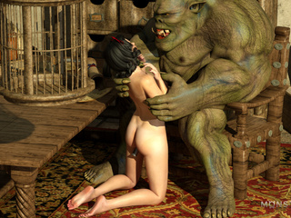 Elven enchantress with big tits banged by a beast - Picture 3