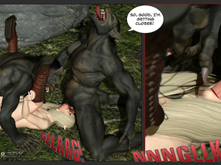 Elven enchantress with big tits banged by a beast - Picture 4