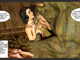 Busty Snow White-esque brunette gets banged by an orc - Picture 4