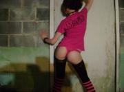emo girl striped socks