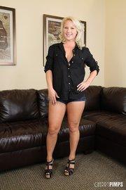 horny blonde bimbo with