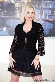 sexy blonde black corset