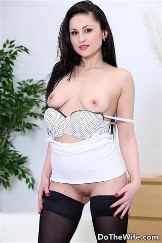 flwaless brunette angel black