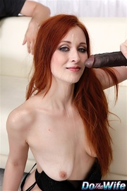 horny redhead chick her