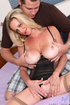 Blonde mature got her still tight pussy drilled on a purple bed