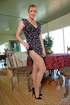 Dirty blonde mature plays with a mini black dildo and cums fast