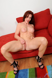 fit redhead mature with
