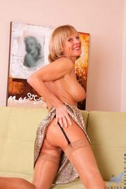 naughty blonde milf takes