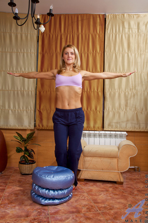 Remarkable, very Blonde milf working out situation familiar