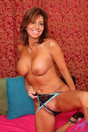brown haired milf with
