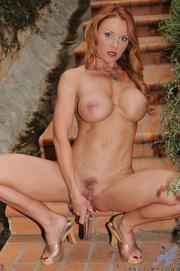 lovely redhead mature enjoys
