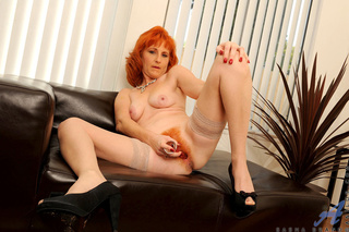 slutty redhead mom fucks