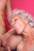 Busty granny receives a hot creampie from a horny youngster