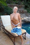 blue, mature, panties, pool