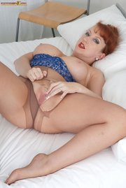 sexy pantyhose red head
