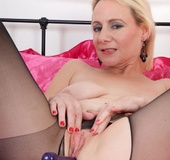 Pantyhose blonde mom