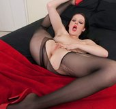 Brunette pantyhose