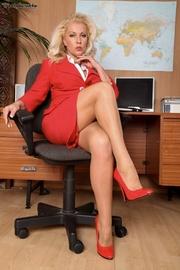 pantyhose office secretary