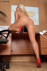 pantyhose office secretary