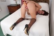 brunette stocking fetish