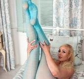 Sexy blue pantyhose