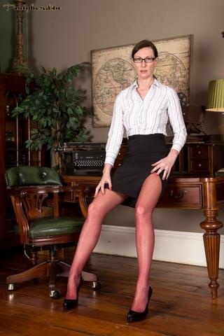 office boss mature glasses