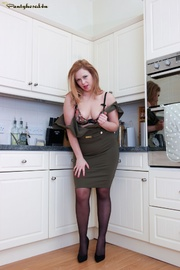 red head kitchen sexy
