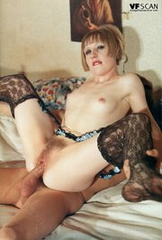 blonde stocking vintage