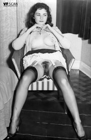 brunette stocking vintage