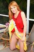 sexy redhead orange undies