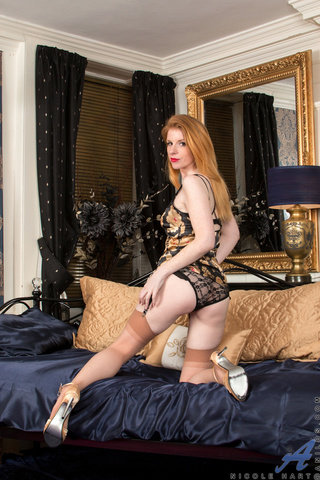 gorgeous lady brown stockings