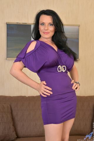 brunette cougar loves purple