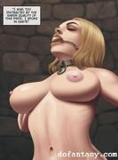 bdsm art, blonde, huge tits, nipples