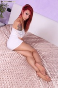 babe, foot, red head, soles