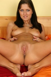 horny beautiful lassie with