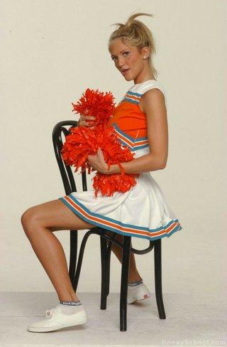 alluring blonde cheerleader massive