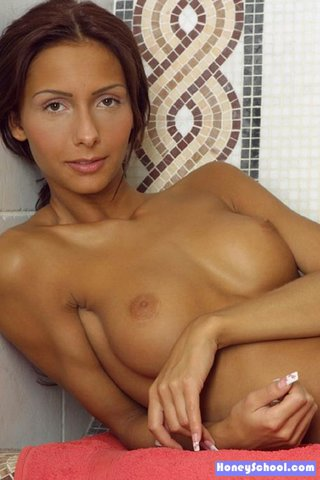 good-looking brunette coed chick