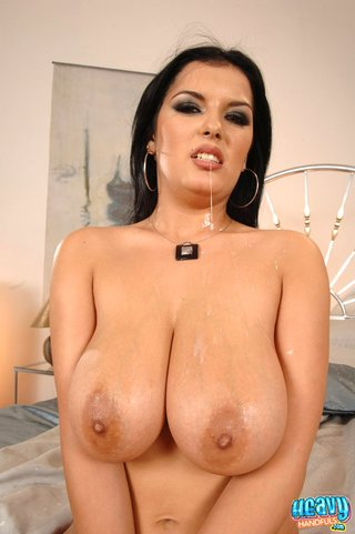 brunette tramp huge boobs