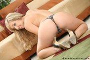 blonde slut posing nude