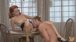 perched table moans pushing