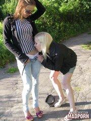 blonde chick got naughty