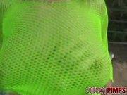 blonde skank neon green