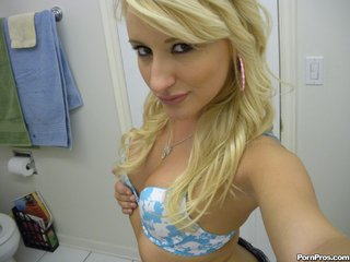 lovely blonde babe loves